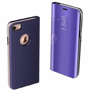 Luxury Smart View Mirror Flip Case Stand Shockproof Cover For iPhone SE 2020