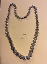 """Kjl Sparkle Beads Necklace 36"""" And Bracelet """"Silver"""""""