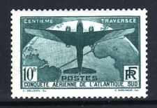 """FRANCE STAMP TIMBRE 321 """" TRAVERSEE ATLANTIQUE SUD 10F VERT """" NEUF xx LUXE  R926"""