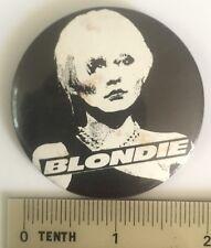 Vtg 1978 Og Blondie Pin Badge 55mm 1970 Punk Band Debbie Harry Rip Her To Shreds