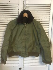 Authentic Vintage WWII B-15 Flight Jacket US Military Issue USA Men's Small