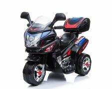 Schwarz Harley Polizei Elektro Kinder Elektrofahrzeug Akku Dreirad Wagen J568