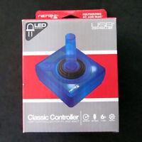 Brand New RetroLink Atari for to PC Mac USB Clear Joystick Controller Blue LED