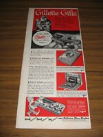 1950 Print Ad Gillette Gifts Razor Blades Santa Claus & Elves