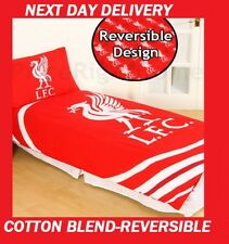LIVERPOOL FC FOOTBALL CLUB SINGLE DOONA QUILT DUVET COVER SET,COTTON BLEND