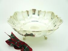 Silver Bowl, Sterling, English, Pierced Work, Hallmarked 1929, Walker & Hall