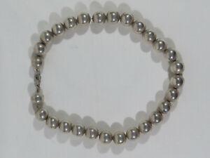 Designer Silberkette mit beweglischen Silberkugeln / 925 Sterlingsilber um 1970