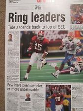 ALABAMA FOOTBALL 1999 SEC CHAMPS POSTER FROM THE BHAM POST HERALD VS FLORIDA