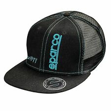 Sparco 1977 Flat Peaked Rally/Motorsport Baseball Cap / Hat - One Size