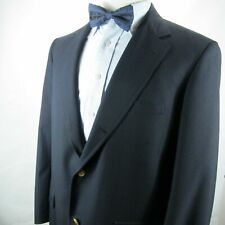 Brooks Brothers Blazer Brass BB Buttons 42 R Navy 3-Button 100% Wool