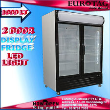 EUROTAG 2 DOOR 1000L COMMERCIAL UPRIGHT DISPLAY FRIDGE(BRAND NEW)1YEAR WARRANTY