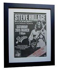STEVE HILLAGE+Motivation+Hurdy+POSTER+AD+FRAMED ORIGINAL 1977+FAST GLOBAL SHIP