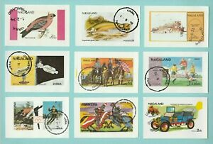 STAMPS  -  22  MINI  SHEETS  -  PRODUCED  IN  NAGALAND,  INDIA  -  1972 - 1977