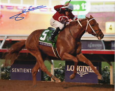 """Gun Runner 2017 Breeders' Cup  Classic 8"""" x 10""""  Photo Signed Florent Geroux New"""
