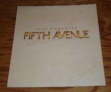Original 1987 Chrysler Fifth Avenue Deluxe Sales Brochure 87