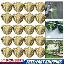"""Lot Brass Misting Nozzles Water Mister Sprinkle For Cooling System 0.012"""" 10/24"""