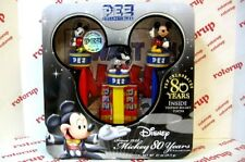 PEZ Mickey Mouse 80 years set of 3 dispensers in tin with 3 packs of PEZ candy