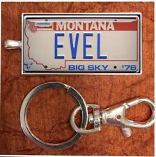 New listing Evel Knievel Museum Hand Made Ek License Plate Keychain