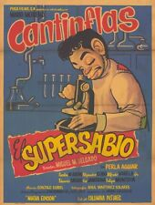 SUPERSABIO, EL Movie POSTER 11x17 Spanish Cantinflas Perla Aguiar Carlos