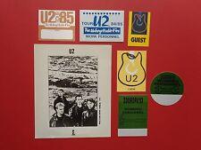U2,promo photo,6 Backstage passes,Rare Originals,Various Tours