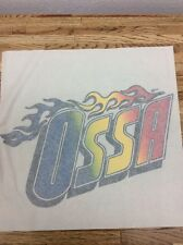 OSSA vintage 1970s iron on t shirt transfer MOTORCYCLE dead stock