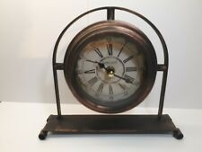 New Dannto Newgate Vintage/Retro Style Metal Table Clock.