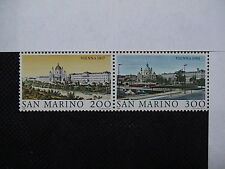 SAN MARINO 1981 serie 2 francobolli TEMATICA : CITTA' deI MONDO VIENNA em.005C