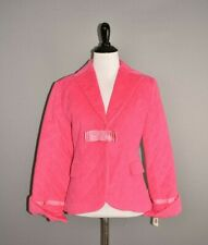 MOLLY B NEW $180 Pink Quilted Jacket Grosgrain Ribbon Bow Accents Size 6