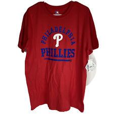 MLB Philadelphia Phillies All Cotton TShirt Mens Size Large Red