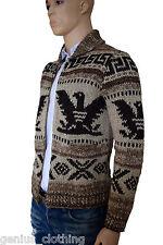 Ralph Lauren Intarsia Cowichan Sweater Jumper Cardigan RRP £605 BNWT Fabulous XL