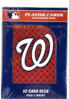 Washington Nationals Official MLB 52 Playing Card Deck + 2 Jokers Factory Sealed