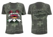 METALLICA- MASTER OF PUPPETS A/O Official T Shirt Grey Mens Licensed Merch New