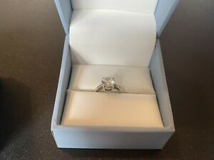 Beautiful Charles & Colvard 1.50CTW 4 Prong Moissanite Solitaire Engagement Ring