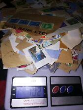 100g bag of used stamps kiloware onpaper lot worldwide WW