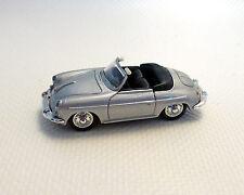 Porsche 356 B Convertible, plata, WELLY, 1:87