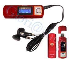 LETTORE MP3 DISPLAY LED RADIO FM BATTERIA RICARICABILE 2GB USB AS ROMA AUTOVOX
