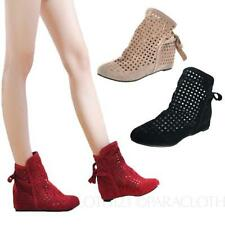 Flat (0 to 1/2 in.) Wedge Slip On Casual Boots for Women