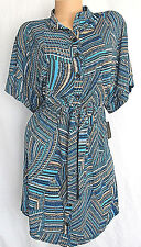 Laundry Dress Women's Size Small Blue Shelly Segall Shirt Tail Elastic Waist New