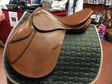 """STUBBEN CLOSE CONTACT EDELWEISS JUMP SADDLE N.T. DELUXE 16.5"""", 31 TREE"""