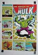 1980 Coca Cola Coke Marvel Comics Incredible Hulk poster 1: Marvelmania/Avengers