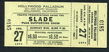 Original 1974 Slade Lynyrd Skynyrd Unused Concert Ticket Hollywood Palladium