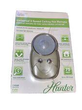 NEW Hunter Universal 3 Speed Remote Control For Fan & Light Model 99121 Open Box