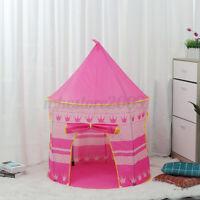 Pink Kids Children Tent Play Castle Sleeping Play House Indoor Outdoor For Boys