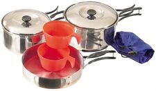 Mess Kit Cook Set 2 Person S/Steel 8 Piece Camping Set Picnic Hiking Scout Cadet