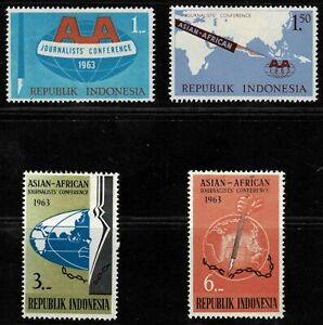 Indonesia 1963 Asian-African Journalists' Conference - Set Of Four Stamps - MLH
