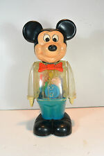 Vintage 1978 Gabriel Walt Disney Mickey Mouse Wind Up Clear See Through Robot