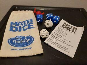 Thinkfun Math Dice Jr Mental Game With Bag - Multi Player