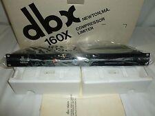 NEW DBX 160X COMPRESSOR LIMITER, OVER EASY, JAPAN ,VINTAGE PRO AUDIO EQUIPMENT
