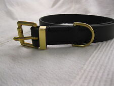 "1"" X 20"" SUPER HEAVY BIOTHANE [ A BRIDLE LEATHER SUBSTITUTE ] DOG COLLAR"