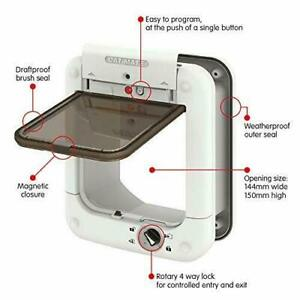Cat Mate Microchip Cat Door Flap 360W/In Out or Both/Up to 30 cats In=Strays Out